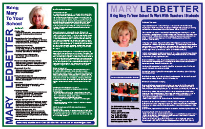 Mary Ellen Ledbetter's Brochure Cover
