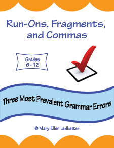 Run Ons, Fragments, and Commas: Three Most Prevalent Grammar Errors